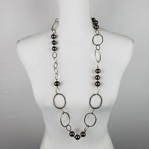 Carolee Necklace Pearl Beaded Rings